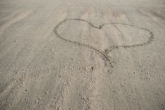 Heart on sand. This is a  photo of the Heart on sand Royalty Free Stock Image