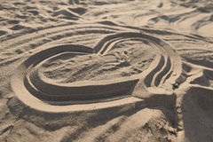 Heart in the sand Royalty Free Stock Photo