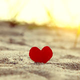 Heart on the Sand Royalty Free Stock Image
