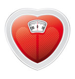 Heart scale Royalty Free Stock Image