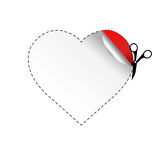 Heart And Scissors Stock Photography