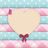 Heart scrap book background Royalty Free Stock Photo