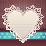 Heart scrap frame background Royalty Free Stock Photos