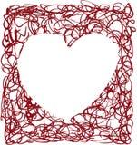Heart scrapbook frame Royalty Free Stock Photo