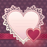 Heart scrapbook template background design Royalty Free Stock Photography