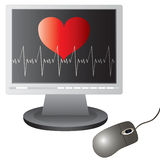 Heart on the screen Royalty Free Stock Images