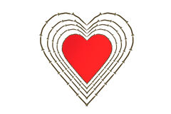 Heart and screws Royalty Free Stock Photos