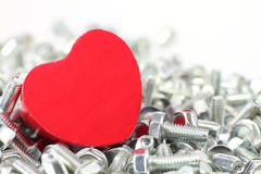 A Heart for screws royalty free stock photos