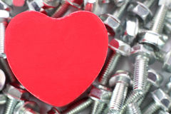 A Heart for screws Royalty Free Stock Photography