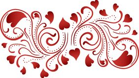 Heart Scroll Background Stock Photography