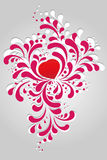 Heart and Scrolls Royalty Free Stock Photography