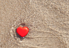 Heart in the sea Royalty Free Stock Photos