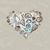 Heart of Sea shells Royalty Free Stock Photo