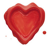 Heart Seal. Real heart shaped wax seal Royalty Free Stock Photography