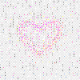 Heart on Seamles Polka Dots pattern Royalty Free Stock Photo