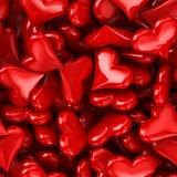 Heart Seamless. Pattern 3D render Stock Photography