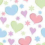 Heart seamless background. Stock Photo