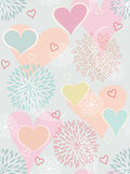 Heart seamless background. Heart seamless background with flowers and paisley Royalty Free Stock Images