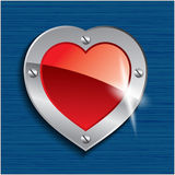 Heart on seamless background Royalty Free Stock Photos