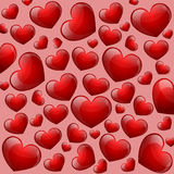 Heart Seamless Background Stock Image
