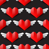Heart seamless background Royalty Free Stock Images