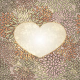 heart on seamless floral Royalty Free Stock Image