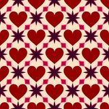 Heart seamless geometric pattern. Valentines Day love background. Stock Photography