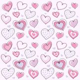 Heart seamless pattern Stock Images