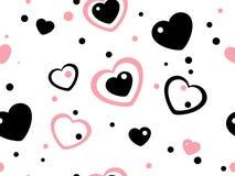 Heart seamless pattern Stock Photos