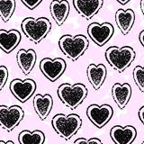 Heart seamless pattern. Abstract pink background. Stock Images