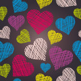 Heart seamless pattern. Hand drawn  hearts Stock Photography