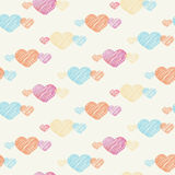 Heart seamless pattern on light background Royalty Free Stock Photo