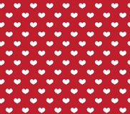 Heart seamless pattern. Love repeating texture. Endless background, wallpaper, backdrop. Vector illustration. Royalty Free Stock Photography
