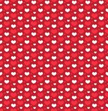 Heart seamless pattern. Love repeating texture. Endless background, wallpaper, backdrop. Vector illustration. Royalty Free Stock Photos