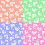 5 in 1 heart seamless pattern. Valentines day concept. Love background. 5 in 1 heart seamless pattern. Big and small hearts. Valentines day concept. Love Stock Illustration