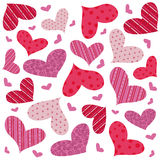 Heart seamless pattern vector Royalty Free Stock Image