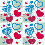 Heart seamless pattern Stock Photos