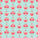Heart seamless pattern Stock Image
