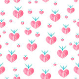 Heart  seamless pattern vector. Heart strawberry seamless pattern vector Royalty Free Stock Images