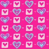 Heart Seamless Repeat Pattern Vector Illustration Royalty Free Stock Photography