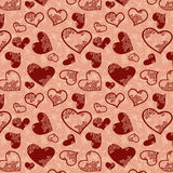Heart seamless texture Stock Images