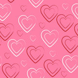 Heart seamless texture and background Royalty Free Stock Photo