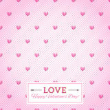 Heart seamless vector background. Happy Valentine's Day Card. Se Stock Photography