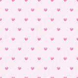 Heart seamless vector background. Seamless pattern can be used f Stock Photo