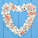 Heart of Seashells Stock Photos