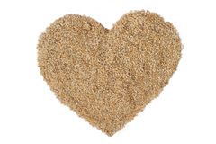 Heart of sesame. Sesame is a kind of ingredients Stock Photo