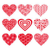 Heart set Royalty Free Stock Images