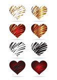 Heart_set Royalty Free Stock Image