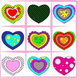 Heart set. Bright Heart set color background Royalty Free Stock Photos