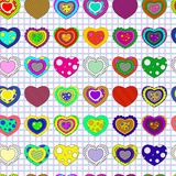 Heart set. Bright Heart set color background Stock Photography